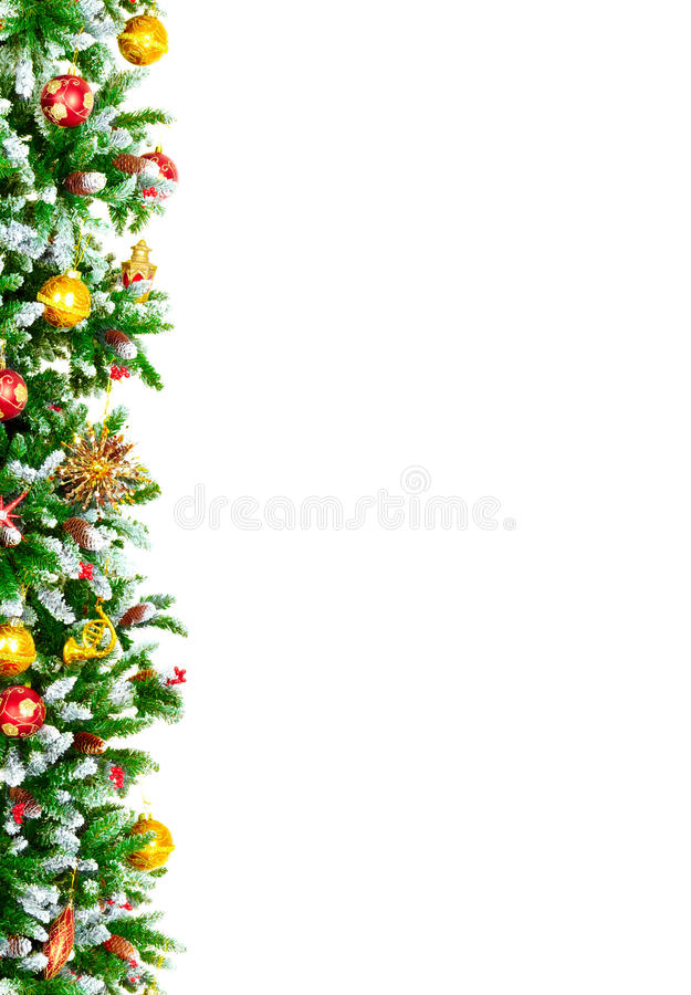 Christmas Tree. Decoration. Isolated over white background