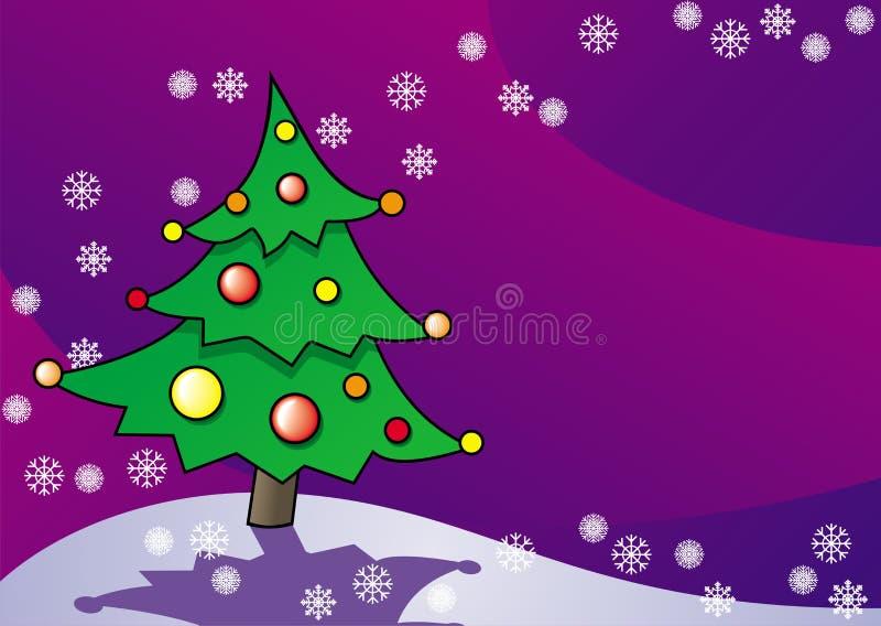 Vector card Christmas spruce stock illustration