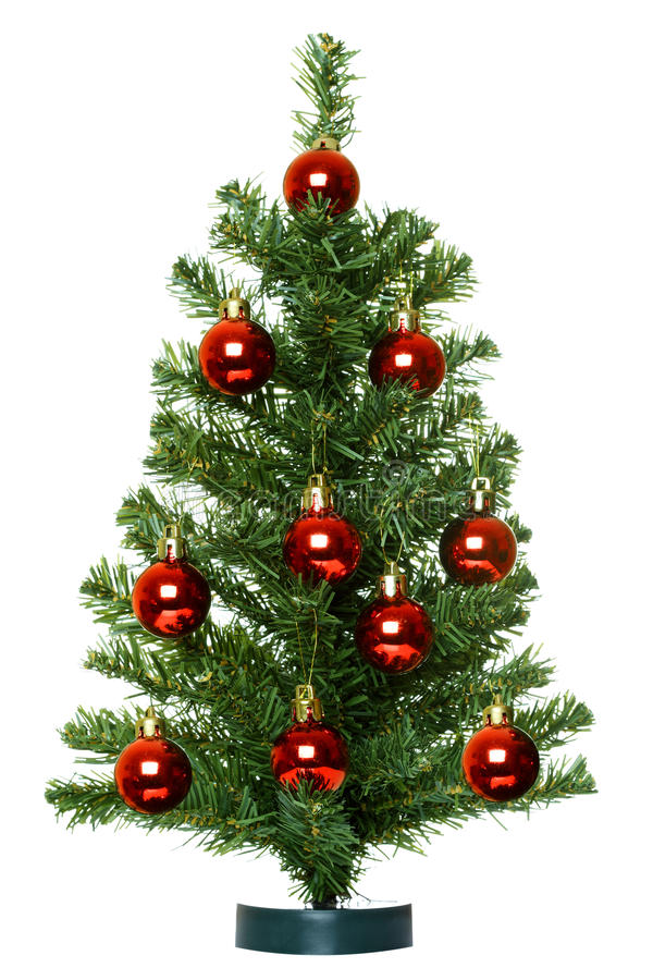 Christmas Tree. Christmas Tree isolated on the white background stock photography