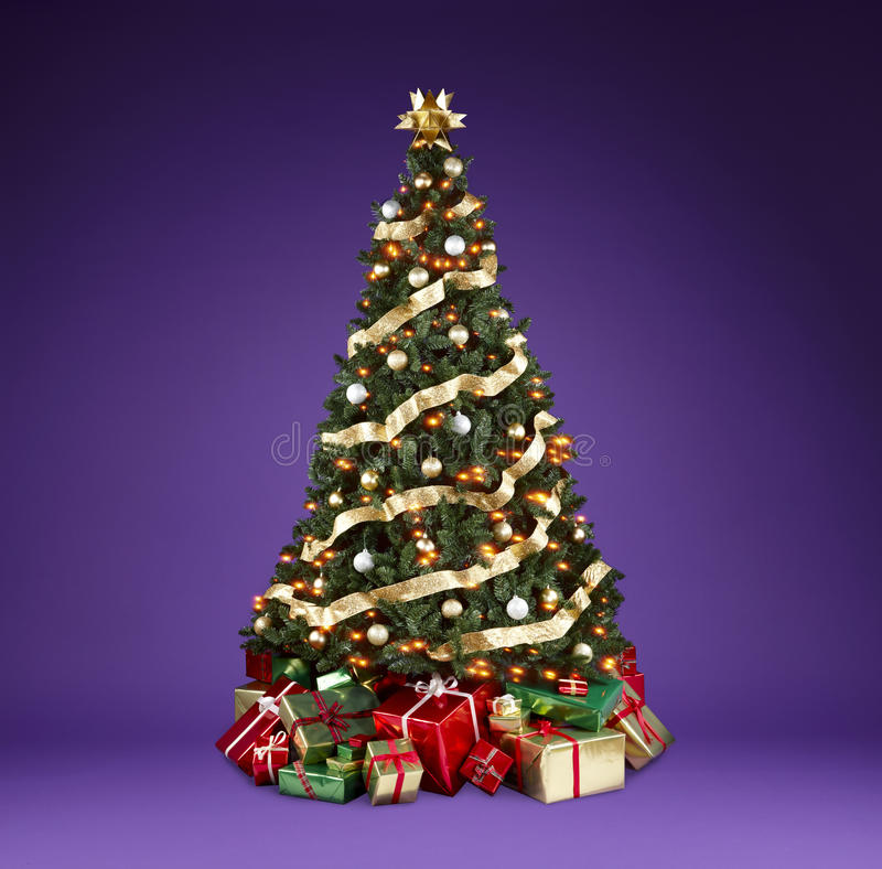 Download Christmas tree stock image. Image of presents, gifts - 11821507