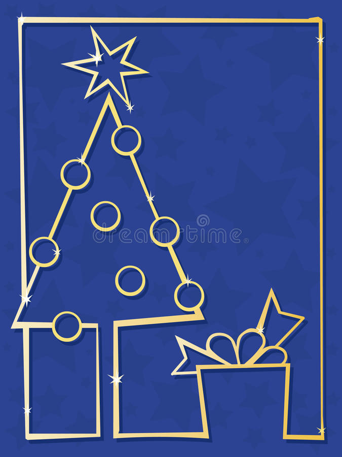 Download Christmas tree stock vector. Illustration of blue, celebration - 11829367