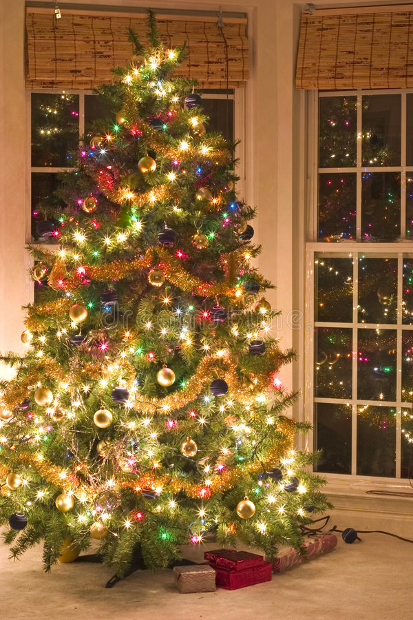 Download Christmas tree stock image. Image of season, ornaments - 1209813