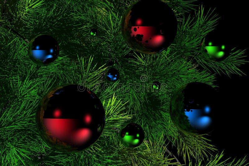 Download Christmas tree stock illustration. Illustration of reflection - 1253199