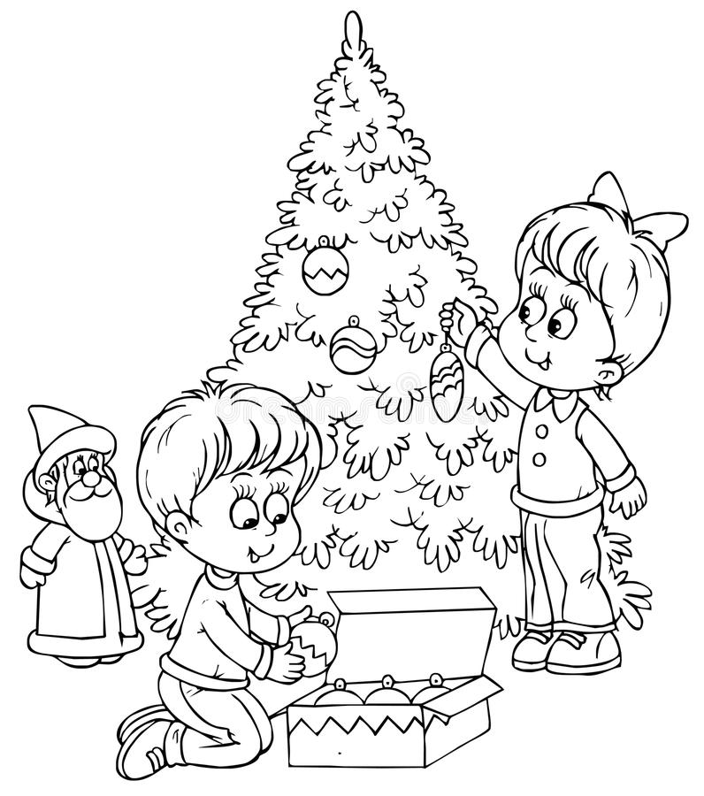 Download Christmas tree stock illustration. Illustration of book - 14979042