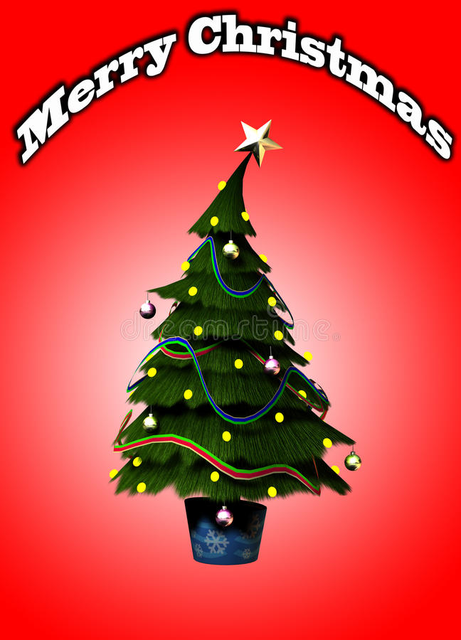 Download Christmas Tree stock illustration. Illustration of flora - 16829247