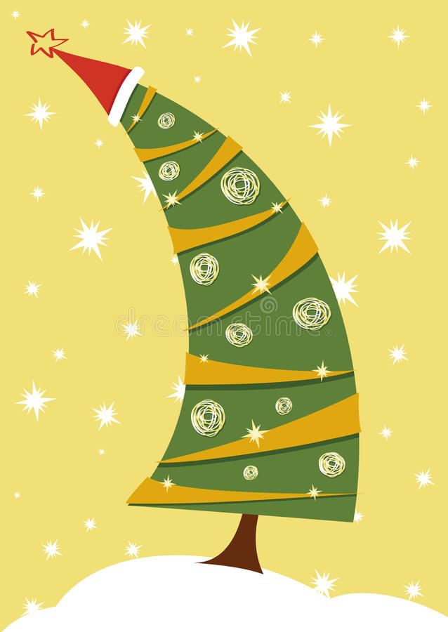 Download Christmas tree stock vector. Image of winter, background - 17509499