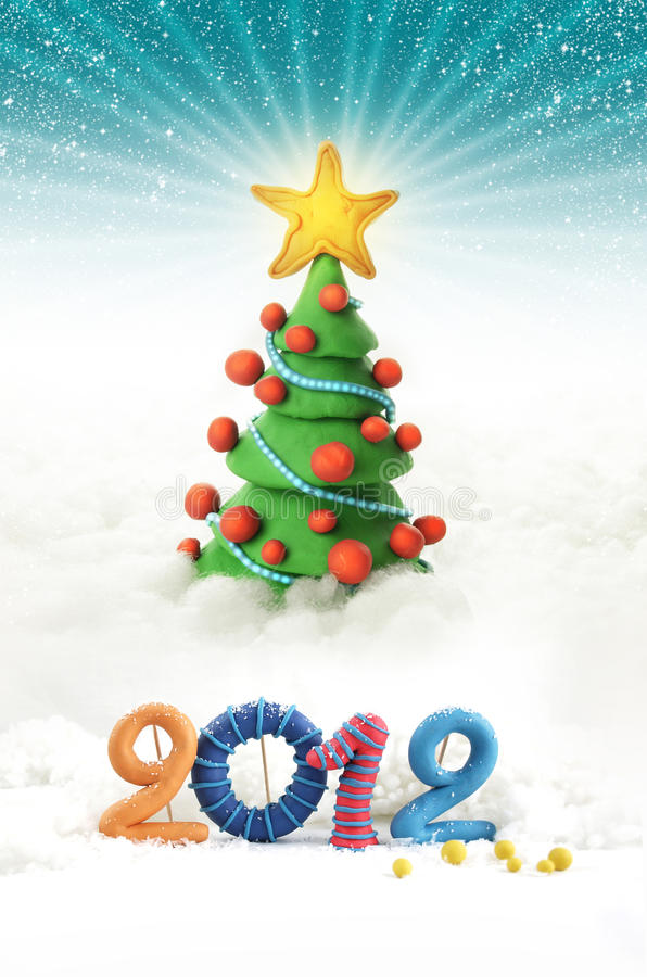 Download Christmas tree 2012 stock photo. Image of christmas, illustrated - 21468580