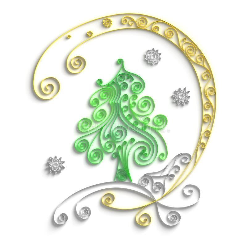 Download Christmas tree stock illustration. Illustration of three - 21024732