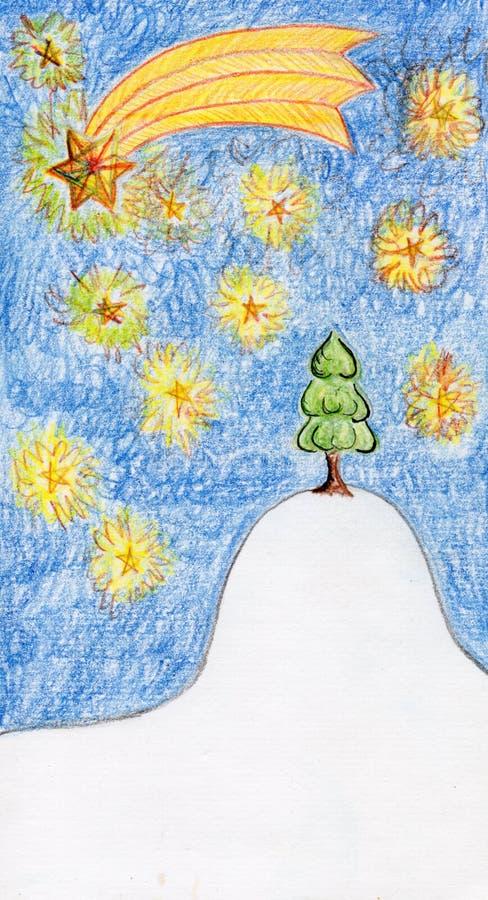 Download Christmas tree stock illustration. Image of dark, christmas - 21383454