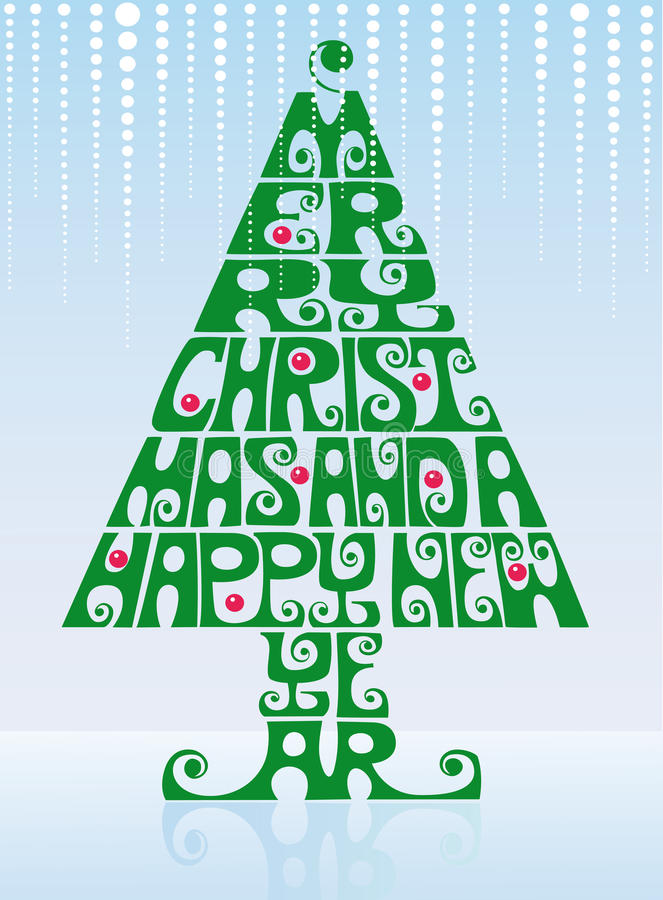 Download Christmas tree stock vector. Illustration of design, letters - 21557744