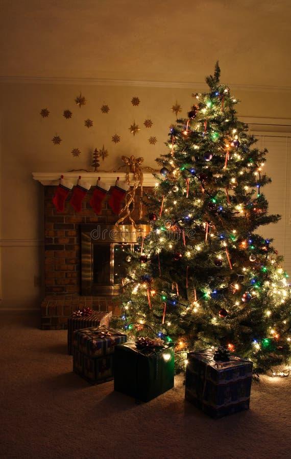 Christmas Tree. Presents under the tree