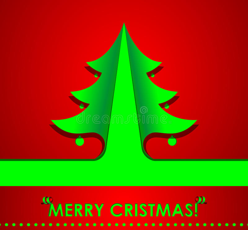 Christmas tree. Made from corners bent, vector royalty free illustration