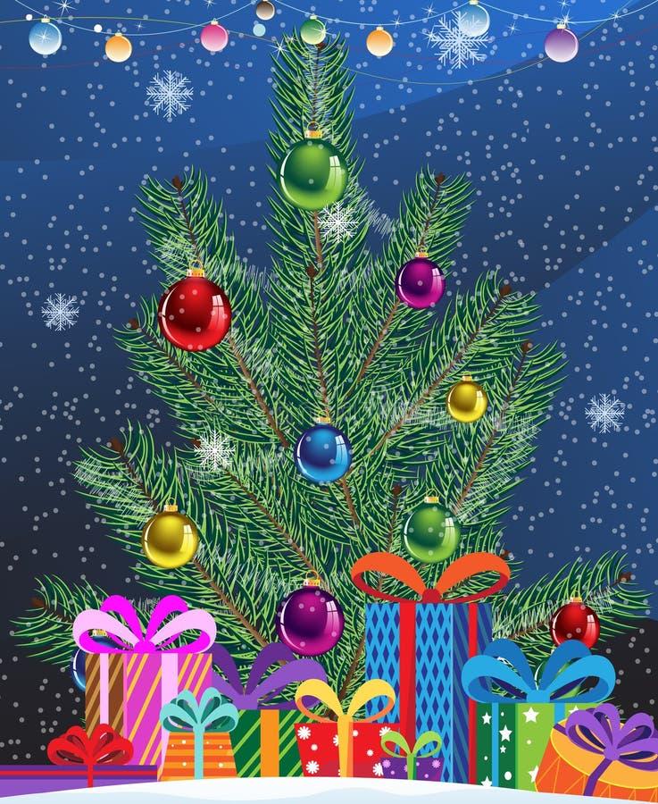 Christmas tree vector illustration