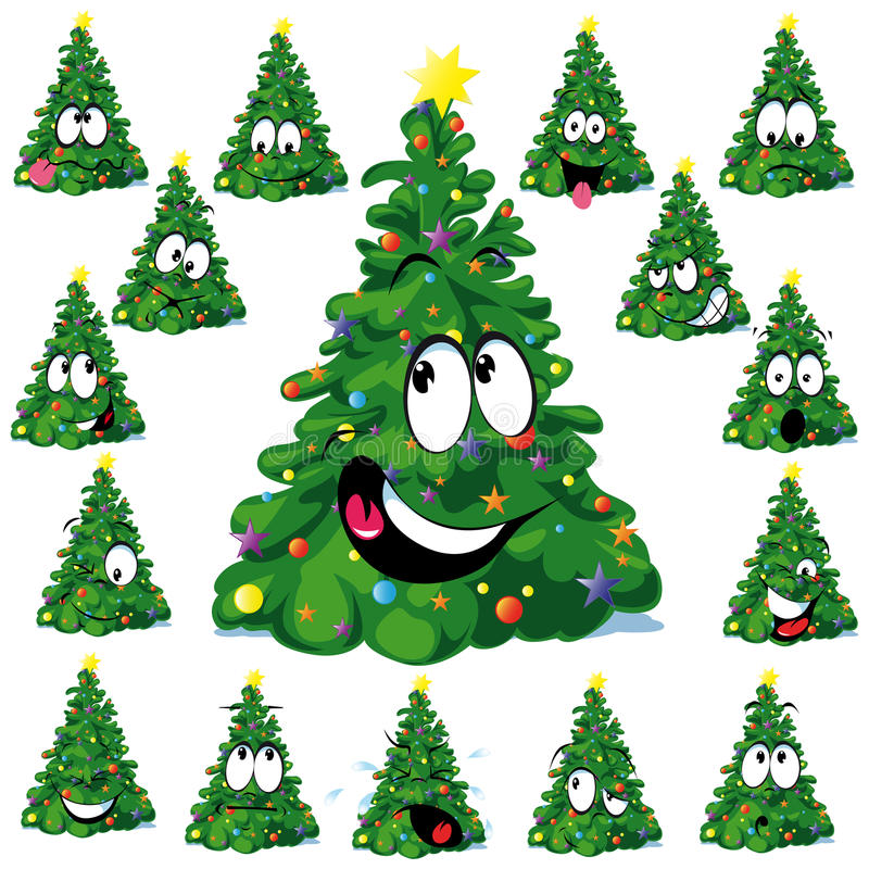 Download Christmas tree stock vector. Image of funny, ornament - 26876691