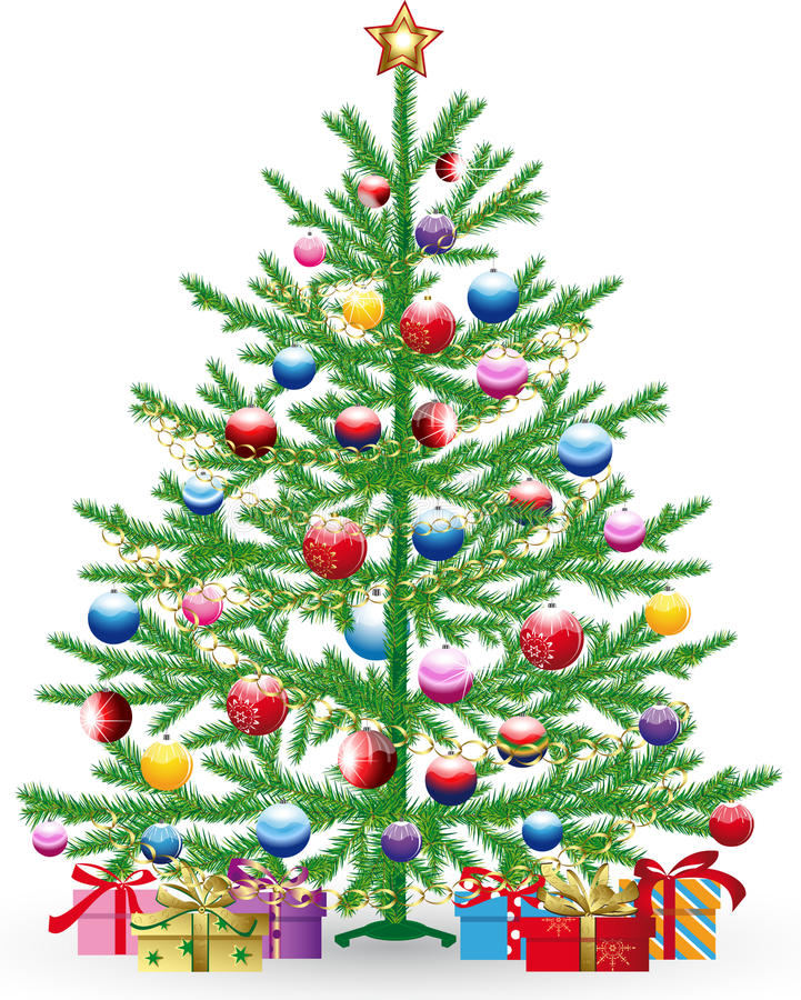 Download Christmas tree stock vector. Illustration of merry, gift - 26984187