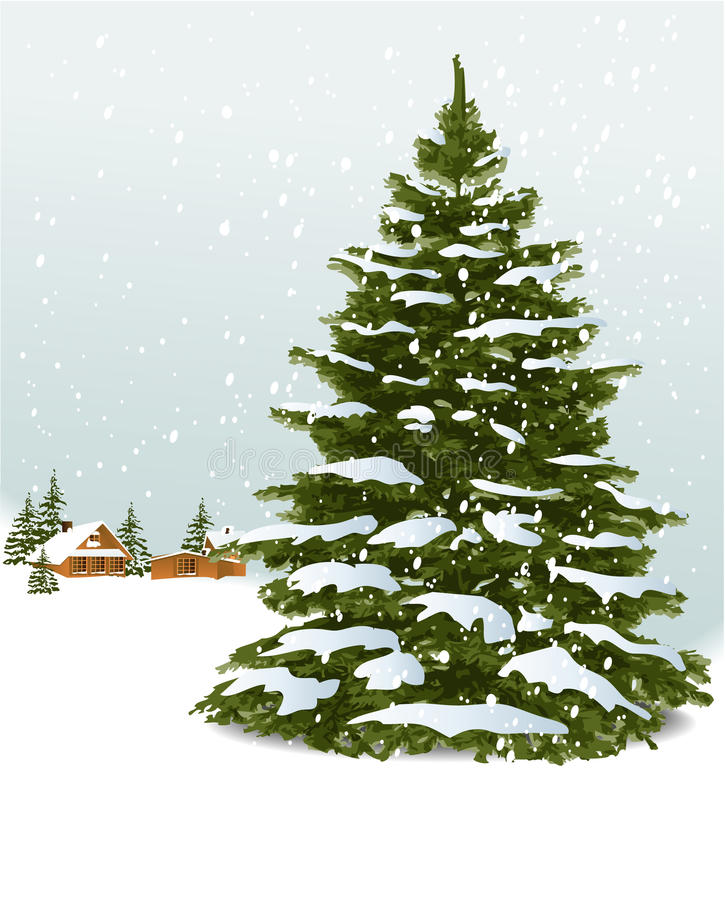 Download Christmas tree stock vector. Image of decoration, winter - 27007956