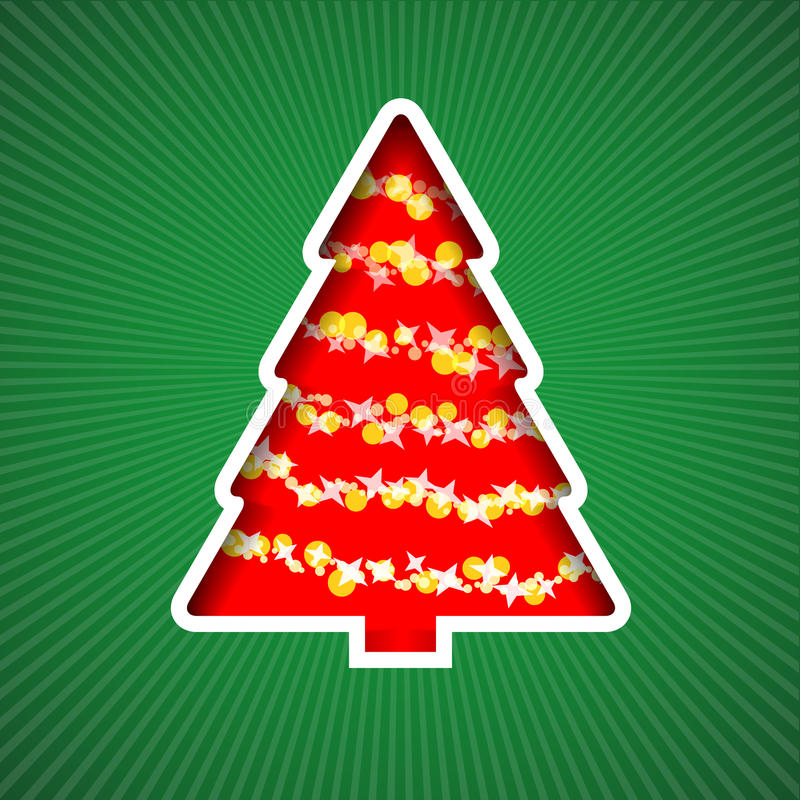 Download Christmas tree stock vector. Illustration of season, chain - 27628271