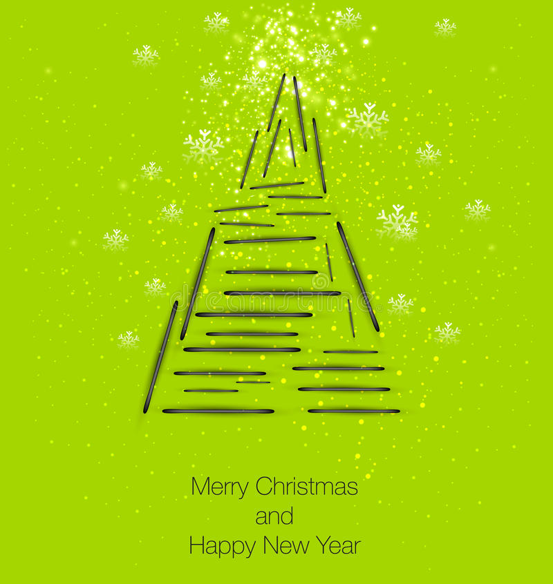 Download Christmas tree stock vector. Image of library, greeting - 27818420