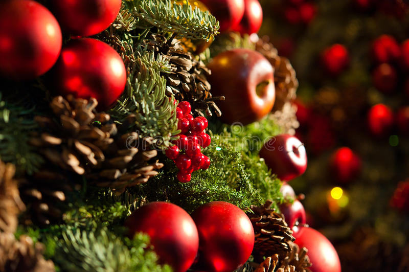 Christmas tree. Close look at Christmas tree royalty free stock photography
