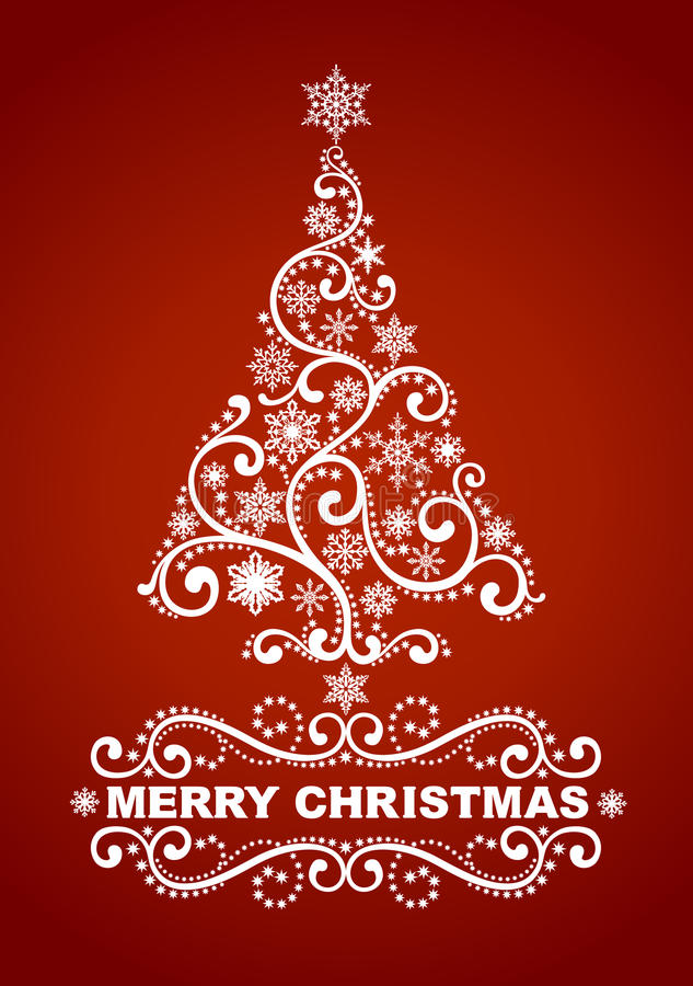 Download Christmas tree stock vector. Image of snowflake, illustration - 27993378