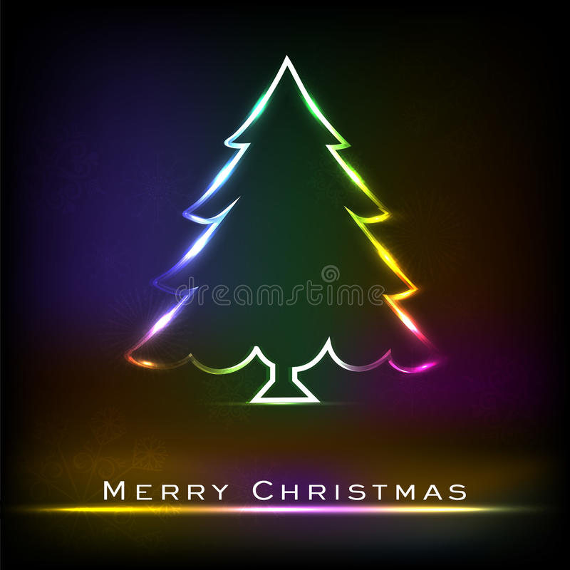 Download Christmas tree. stock vector. Image of flyer, creative - 28171944