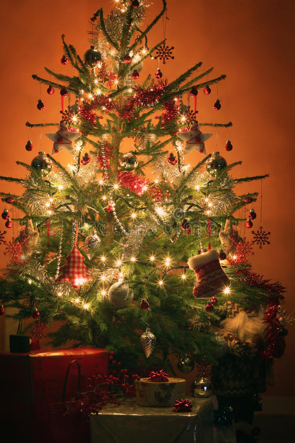 Download Christmas tree stock image. Image of present, house, claus - 28287163