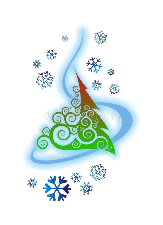 Christmas tree. Abstract Christmas tree, vector illustration