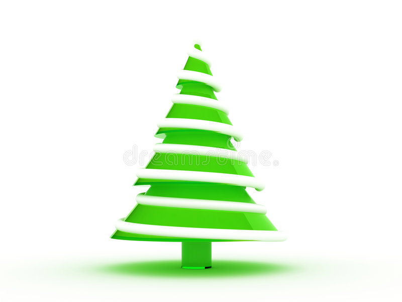 Christmas tree 3d stock illustration