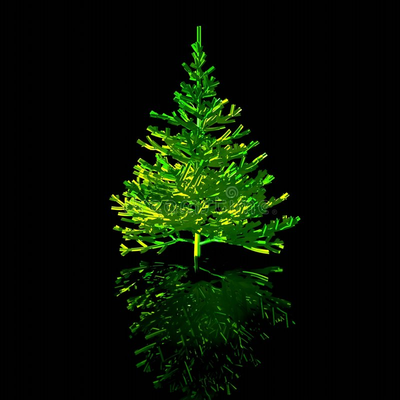 Christmas-tree. 3D graphic stock image