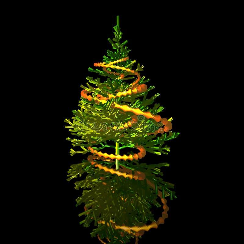 Christmas-tree. 3D image stock photos