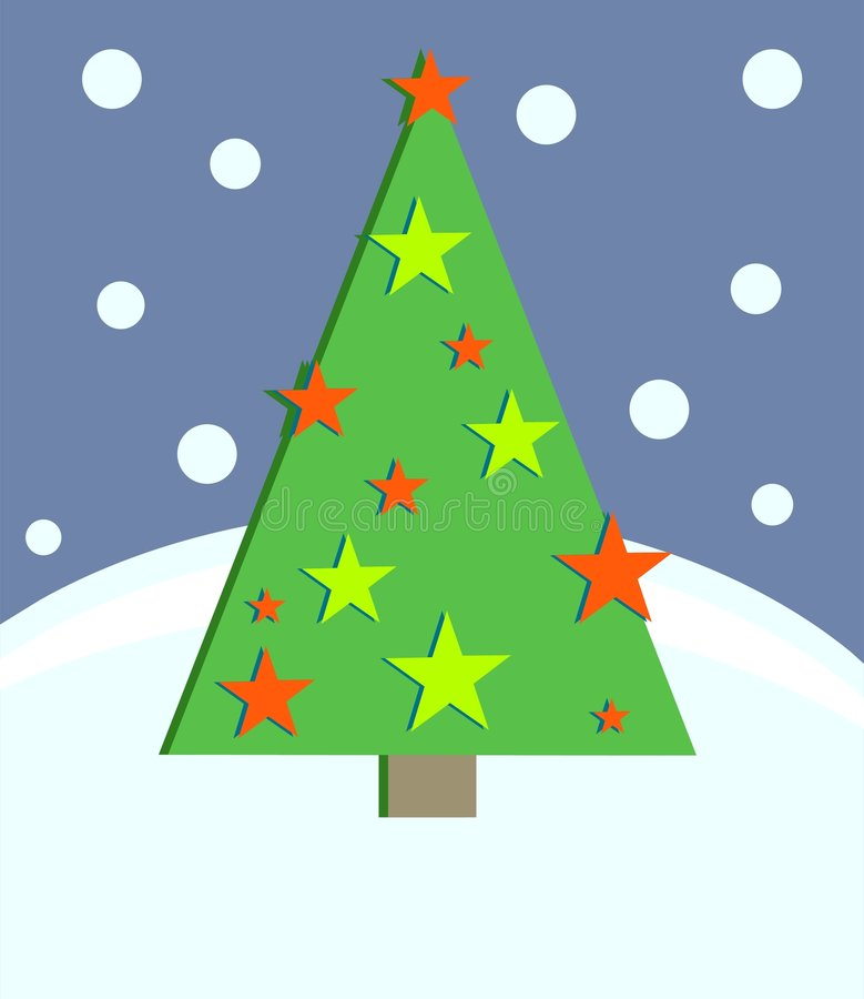 Download Christmas Tree stock vector. Illustration of landscape, occasions - 43438