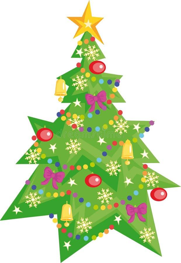 Download Christmas tree stock vector. Illustration of star, pattern - 5226867