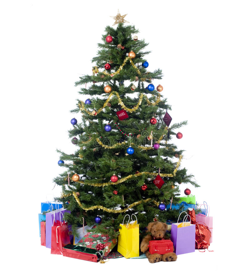 Download Christmas Tree stock image. Image of gold, tree, artificial - 7202337
