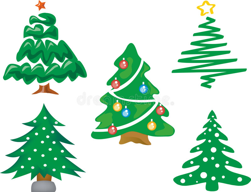 Download CHRISTMAS TREE stock vector. Illustration of shiny, more - 7395539