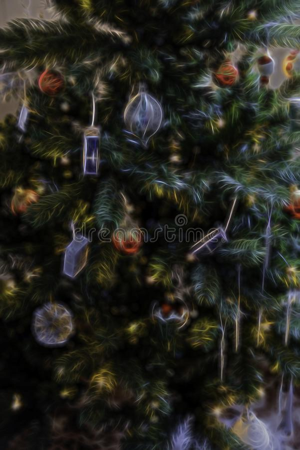 Christmas Tree Abstract Background Illustration stock photo