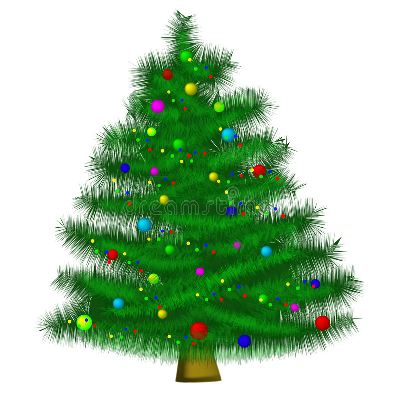 Christmas tree (AI format available) stock photos