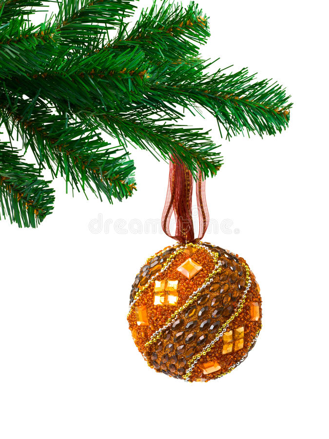 Free Christmas Tree And Ball Stock Photos - 10936453