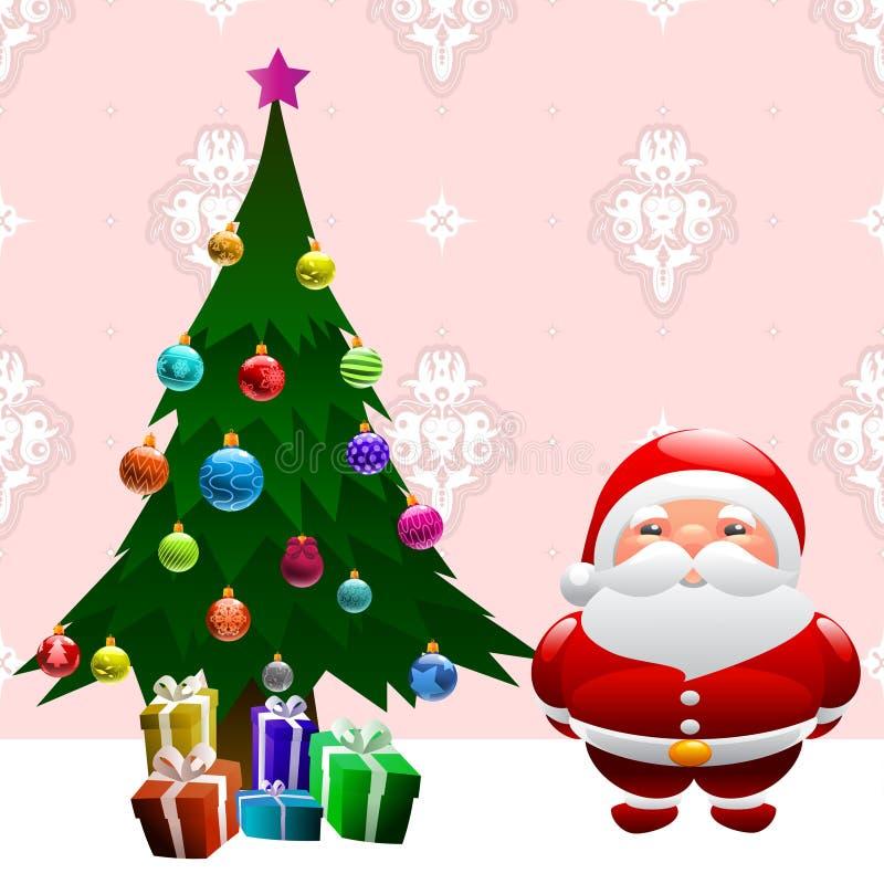 Free Christmas Tree And Santa Claus Royalty Free Stock Image - 16623216