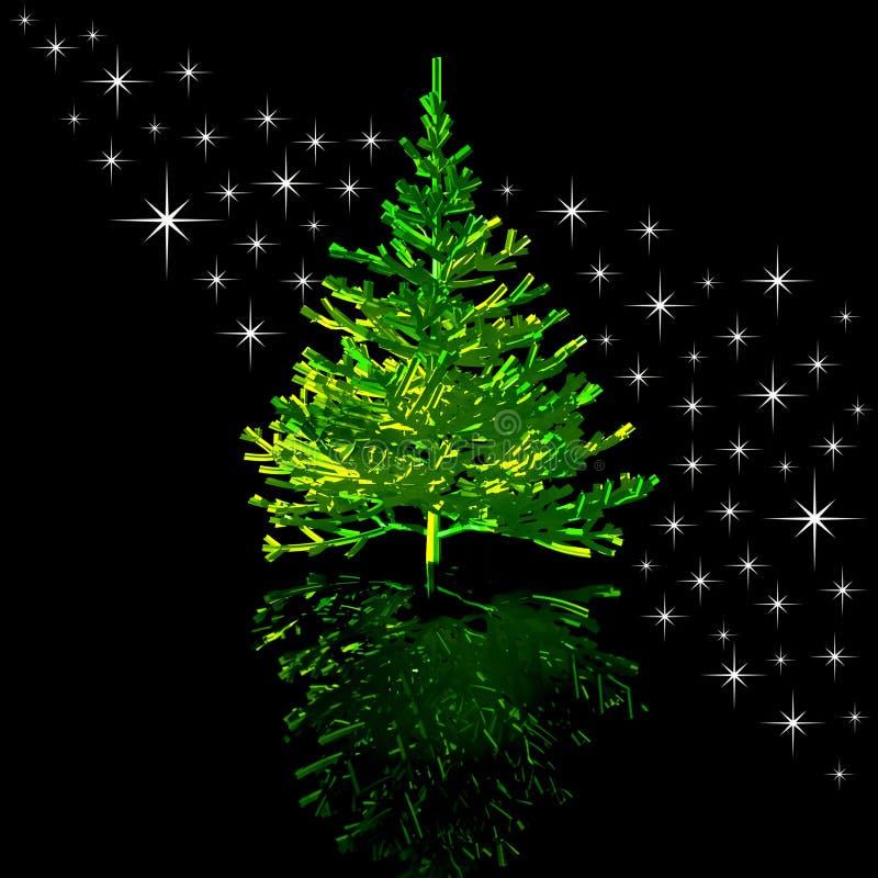 Free Christmas-tree And Stars Stock Photography - 3718362
