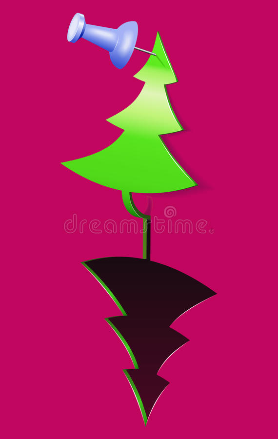 Download Christmas Tree-applique. Stock Images - Image: 22666354