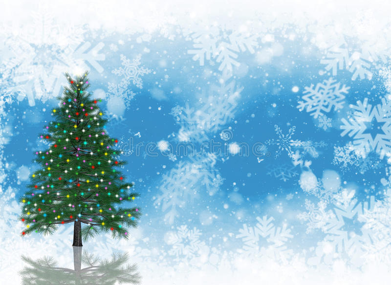 Download Christmas tree background stock illustration. Image of flake - 11357725