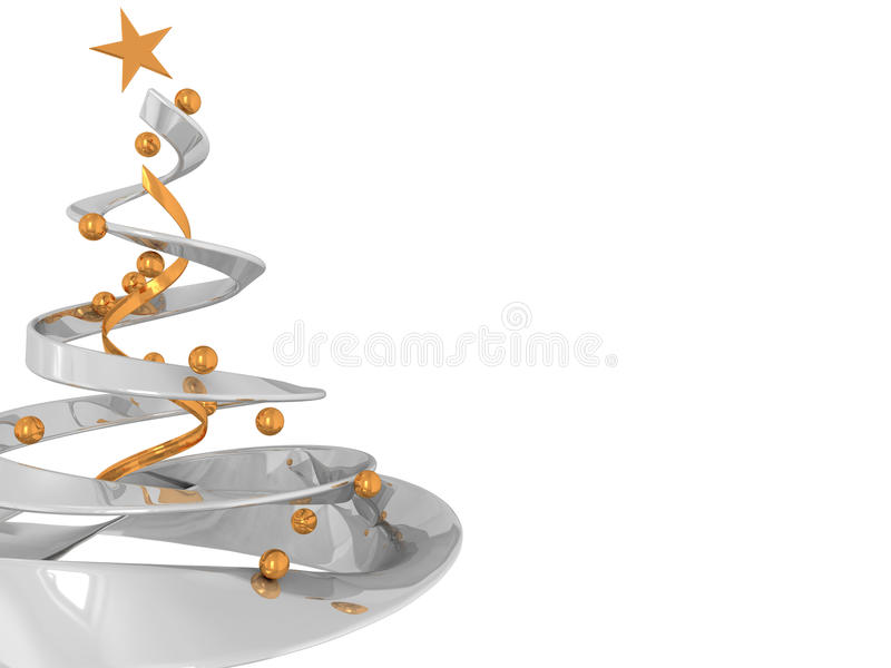 Christmas tree background royalty free illustration