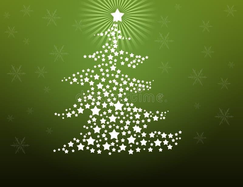 Christmas tree background stock illustration