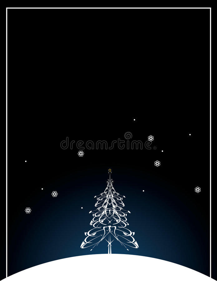 Christmas tree background stock illustration