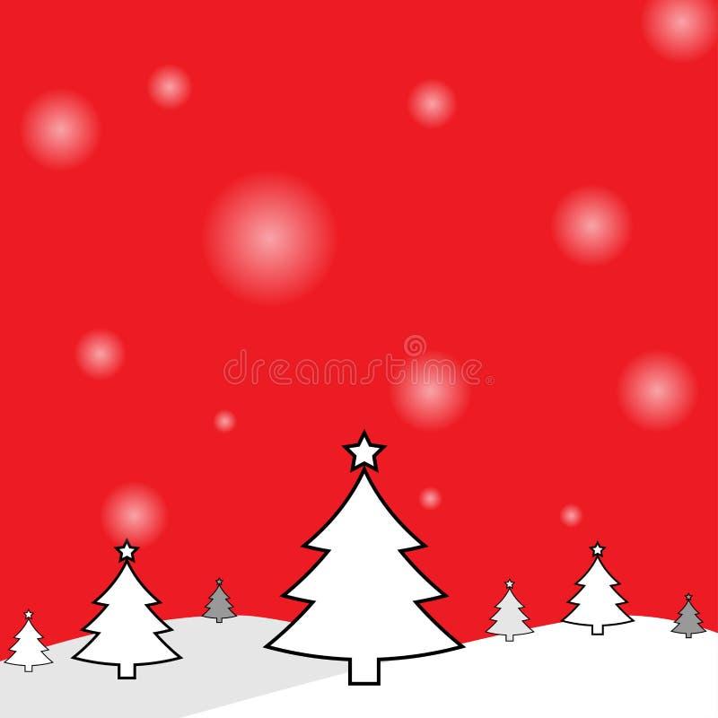 Christmas tree background royalty free illustration