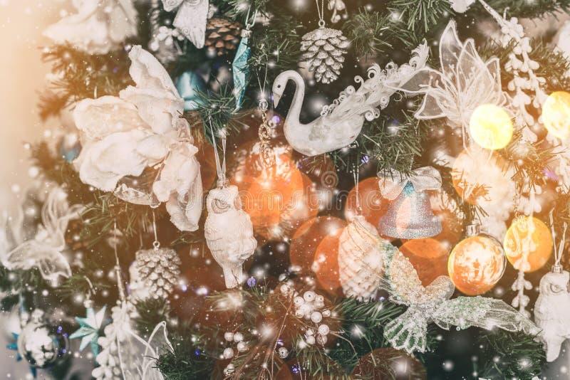 Christmas tree background and Christmas decorations with snow, bChristmas tree background and Christmas decorations with snow. Christmas tree background and stock photos