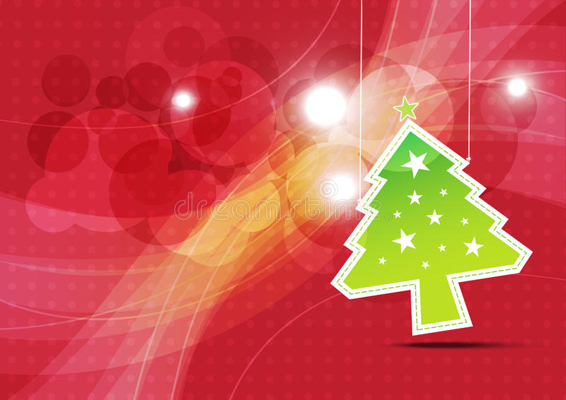 Download Christmas Tree Background Illustration Stock Vector - Illustration of vintage, decorative: 26628996