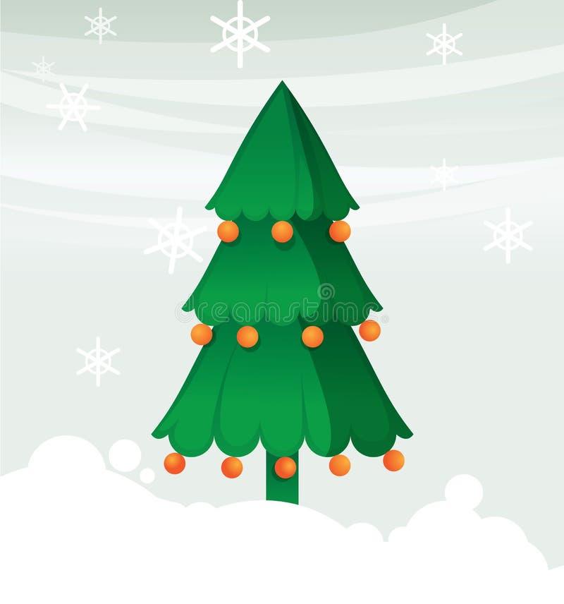 Christmas Tree With Ball Stock Photography