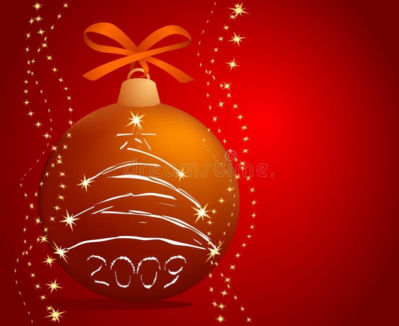 Christmas-tree ball stock illustration