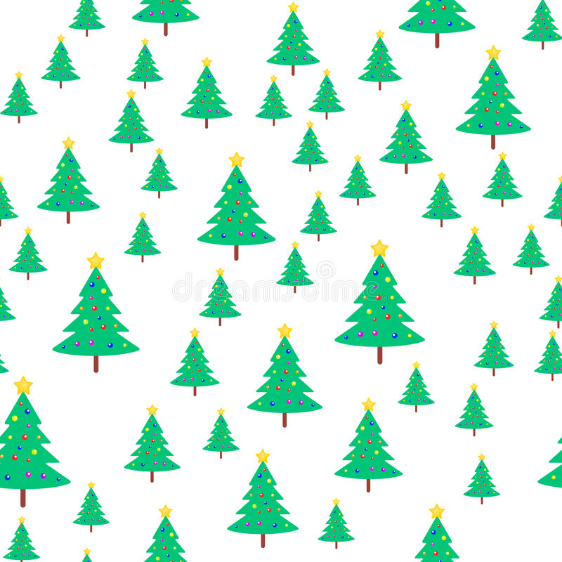 Download Christmas Tree With Ball And Star Seamless Pattern Stock Vector - Illustration of greeting, paper: 86767065